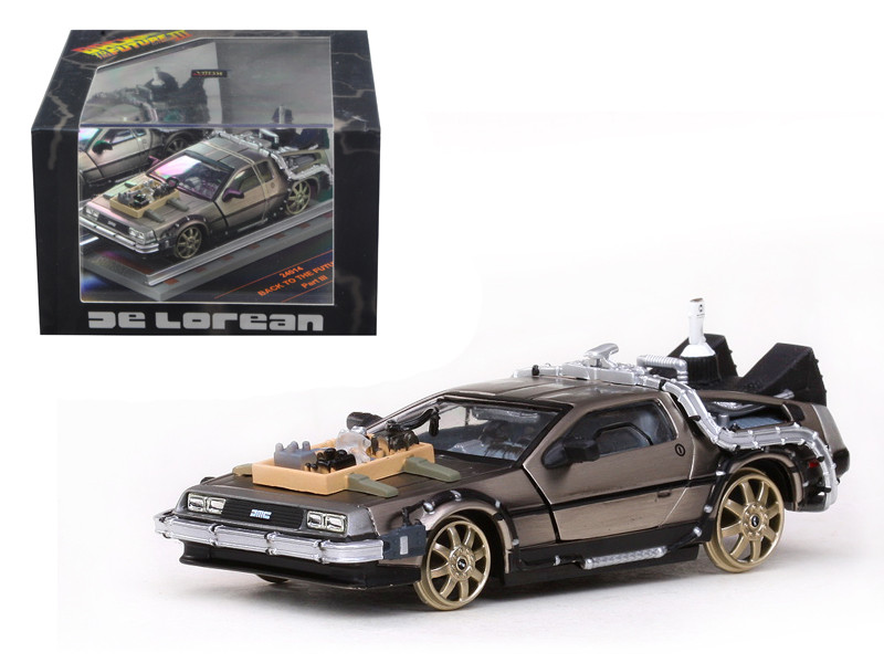 De Lorean Back To The Future Part 3 Railroad Version 1/43 Diecast Car Model by Vitesse