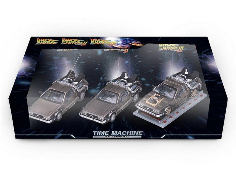 Delorean DMC 12 Back to the Future Movie 1 2 3 set 1/43 Diecast Model Vitesse 24016