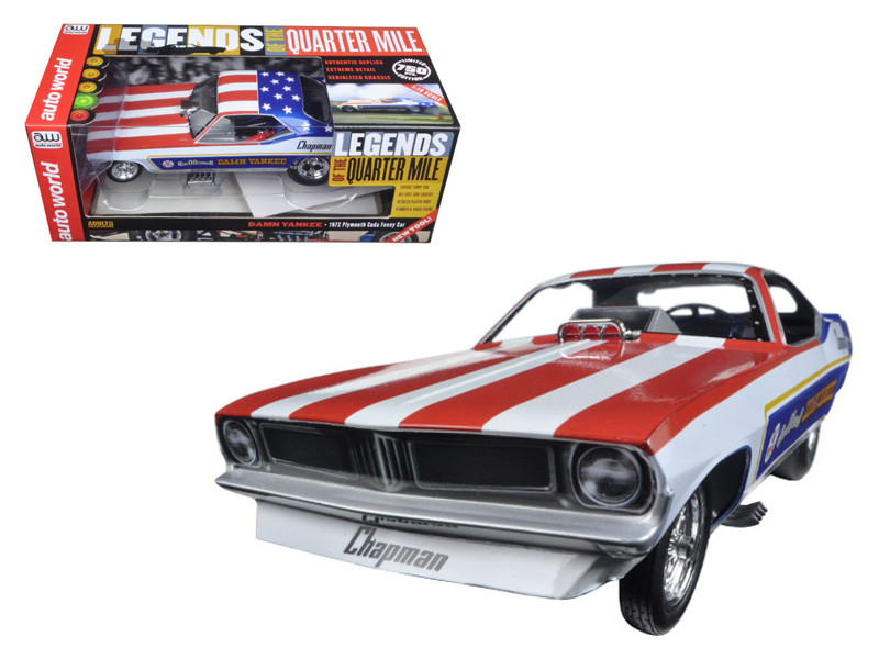 "Ron O'Donnell's 1970 Plymouth Cuda Funny Car ""Damn Yankee"" Limited Edition to 750pc Worldwide 1/18 Model Car Autoworld AW1164"