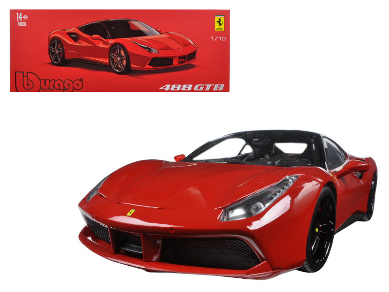 Ferrari 488 GTB Red Signature Series 1/18 Diecast Model Car Bburago 16905