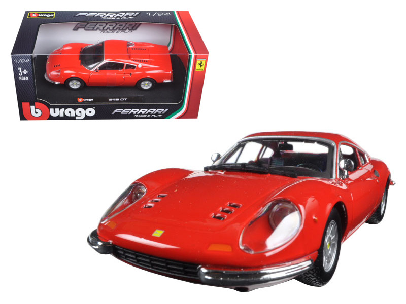 Ferrari 246 GT Dino Red 1/24 Diecast Model Car Bburago 26015