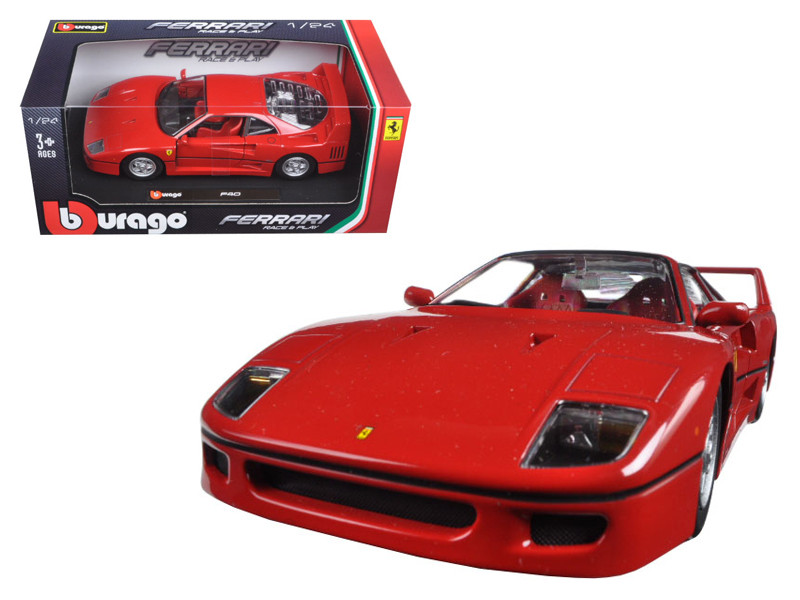 Ferrari F40 Red 1/24 Diecast Model Car Bburago 26016