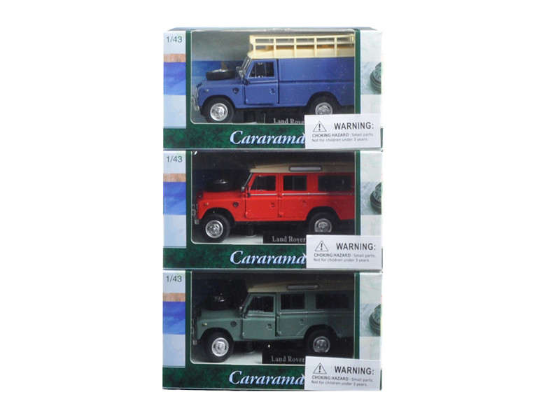 Land Rover 109 Series III 3pc Set Red,Blue,Green 1/43 Diecast Model Cars by Cararama
