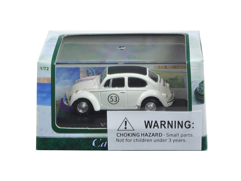 Volkswagen Beetle #53 in Display Case 1/72 Diecast Model Car Cararama 71470