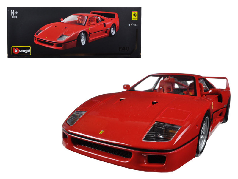 Ferrari F40 Red Original Series 1/18 Diecast Model Car Bburago 16601