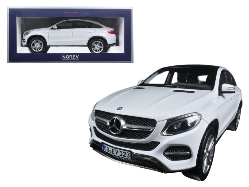 2015 Mercedes GLE Coupe White 1/18 Diecast Model Car Norev 183460