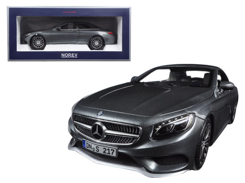 2015 Mercedes S Class Convertible Grey Metallic 1/18 Diecast Model Car Norev 183484