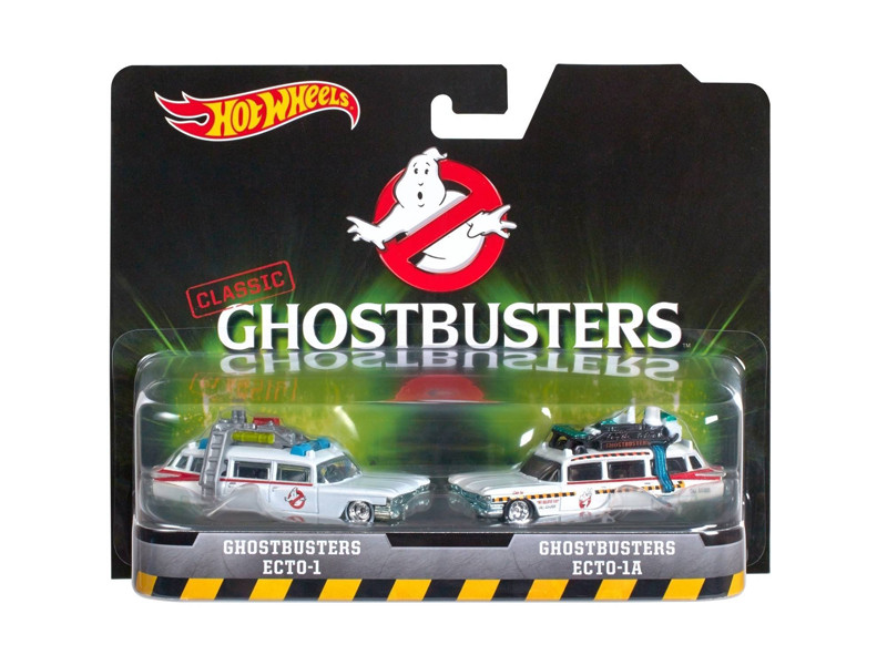 Ghostbusters Ecto 1 and Ecto 1A Set of 2 Cars Diecast Model Cars Hotwheels DVG08