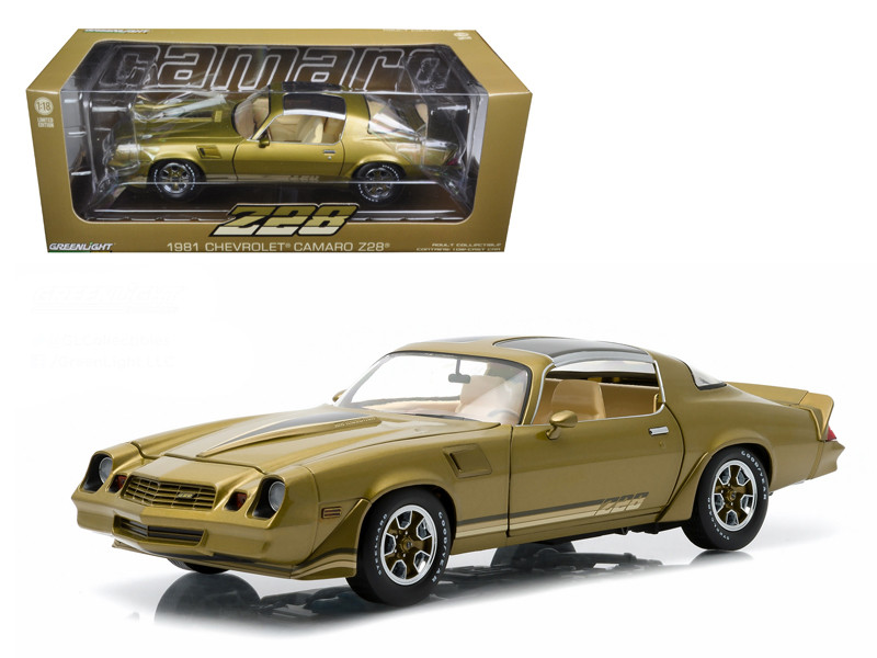 1981 Chevrolet Camaro Z/28 Gold Metallic 1/18 Diecast Model Car Greenlight 12907