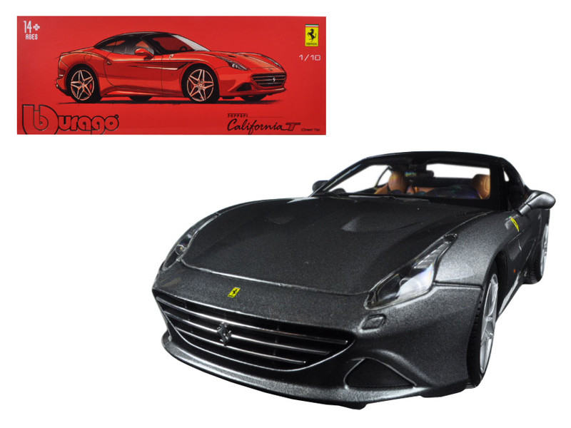 Ferrari California T Closed Top Metallic Grey Signature Series 1/18 Diecast Model Car Bburago 16902