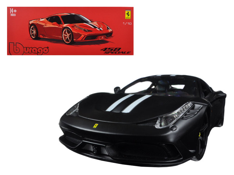 Ferrari 458 Matt Black Speciale Signature Series 1/18 Diecast Model Car Bburago 16903
