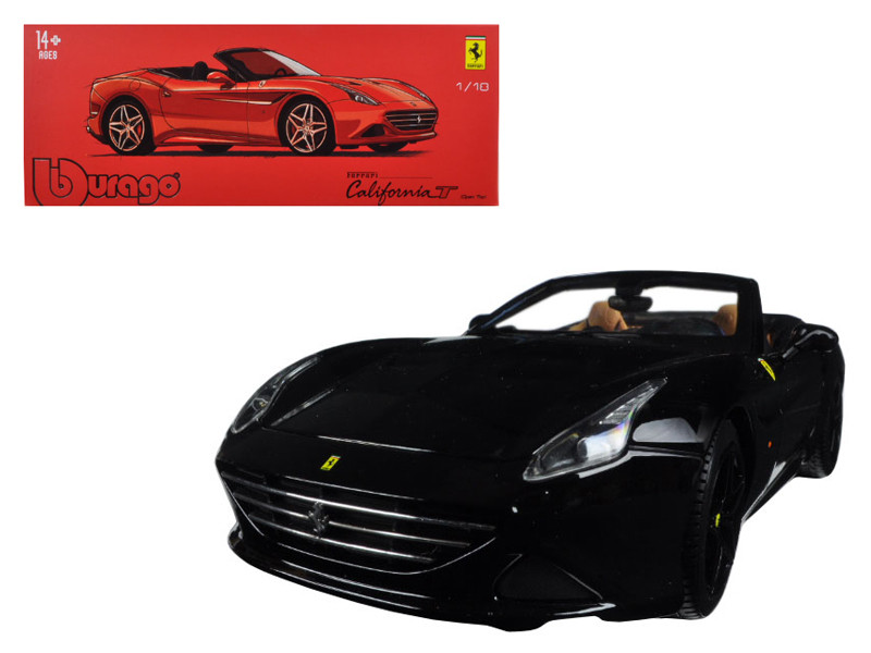 Ferrari California T Open Top Convertible Black Signature Series 1/18 Diecast Model Car Bburago 16904