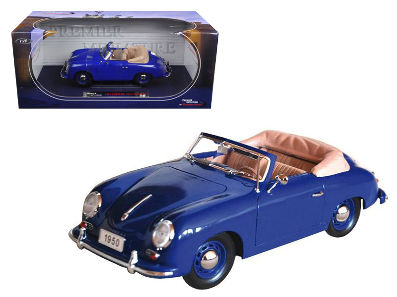 1950 Porsche 356 Convertible Blue 1/18 Diecast Model Car by Signature Models