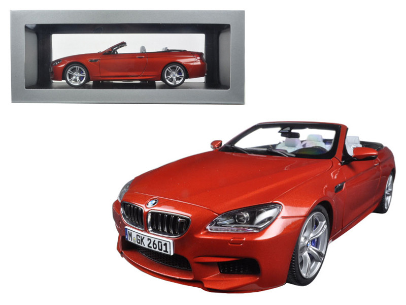 BMW M6 F12M Convertible Sakhir Orange 1/18 Diecast Model Car Paragon 97063