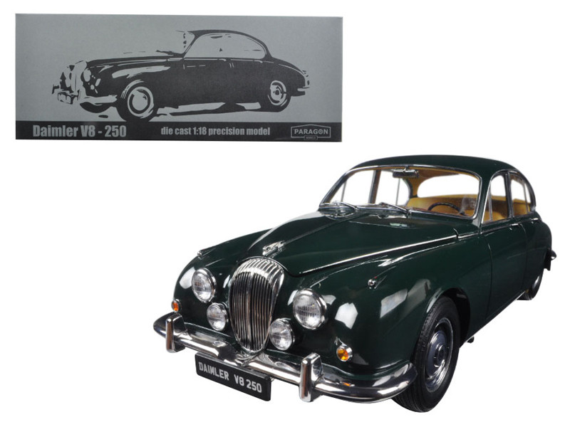 1967 Daimler V8-250 British Racing Green Left Hand Drive 1/18 Diecast Model Car Paragon 98314