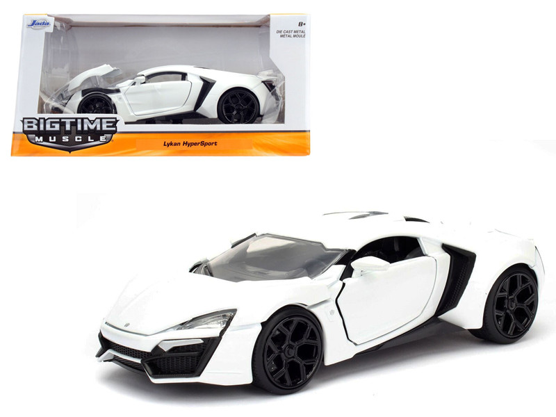 Lykan Hypersport White 1/24 Diecast Model Car Jada 98028
