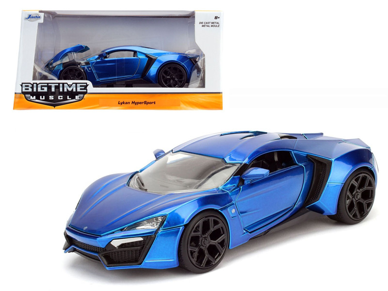 Lykan Hypersport Blue 1/24 Diecast Model Car Jada 98076