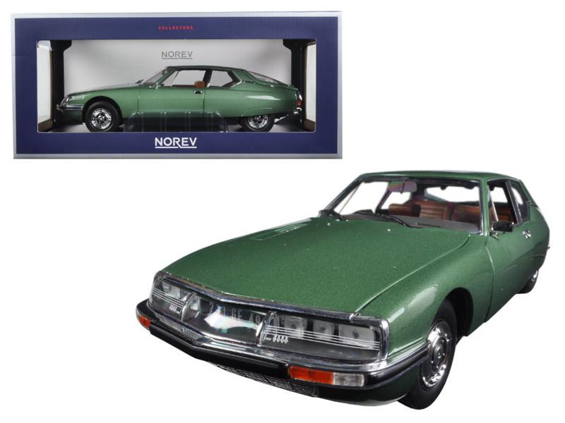 1971 Citroen SM Green Metallic 1/18 Diecast Model Car by Norev