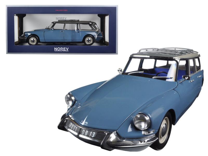 1967 Citroen ID 19 Break Monte Carlo Blue 1/18 Diecast Model Car by Norev