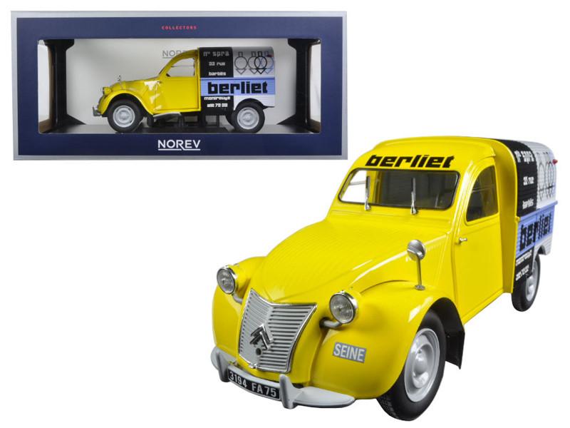 "1956 Citroen 2CV Fourgonnette \Assistance Berliet\"" 1/18 Diecast Model Car by Norev"""""""