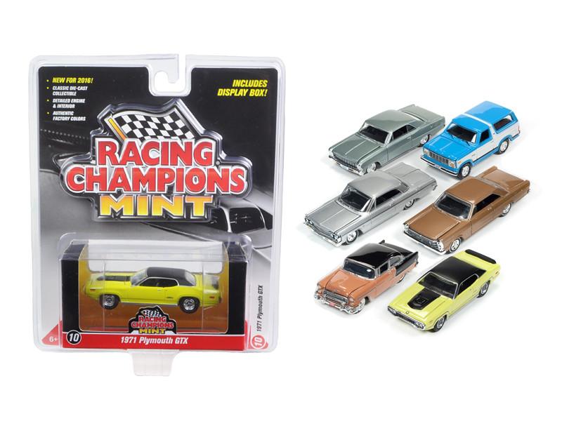 Mint Release 2 Set B Set of 6 cars 1/64 Diecast Model Cars Racing Champions RC002 B