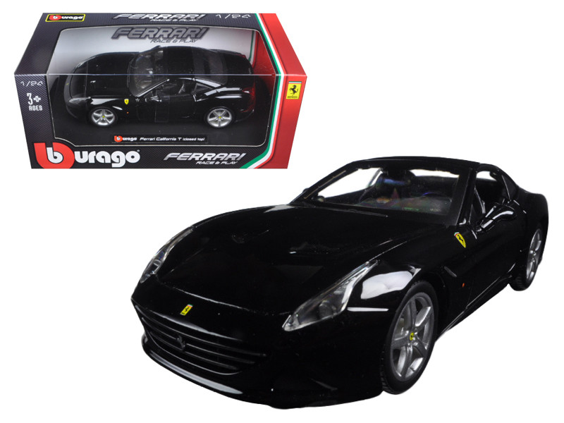 Ferrari California T Black Closed Top 1/24 Diecast Model Car Bburago 26002