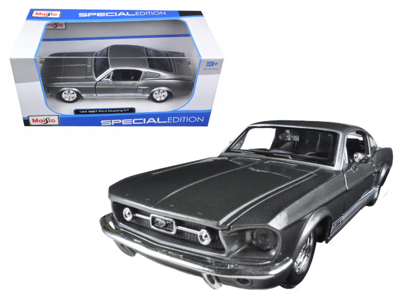 1967 Ford Mustang GT Grey 1/24 Diecast Model Car Maisto 31260