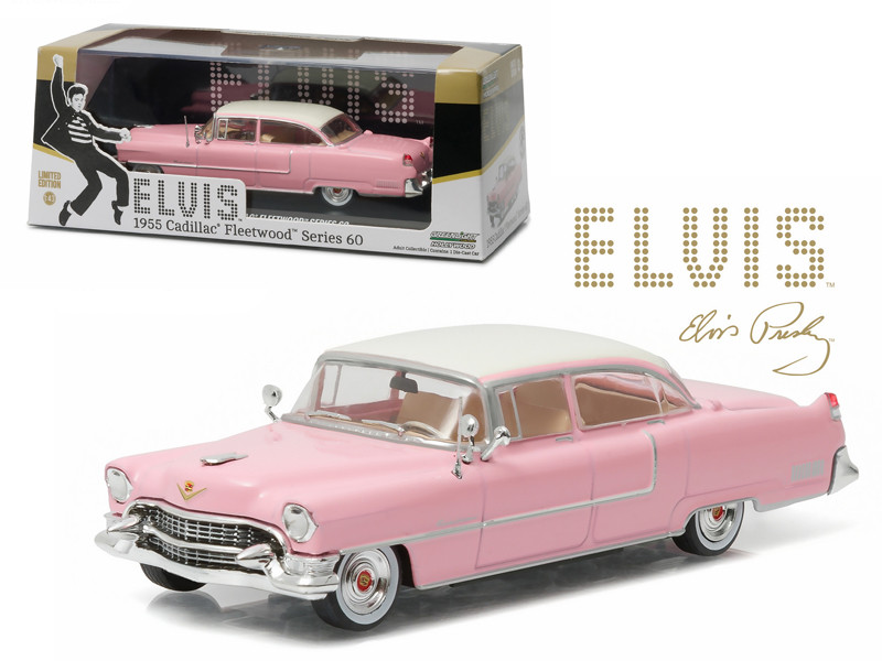 Elvis Presley 1955 Cadillac Fleetwood Series 60 Pink Cadillac 1935-1977 1/43 Diecast Model Car Greenlight 86491