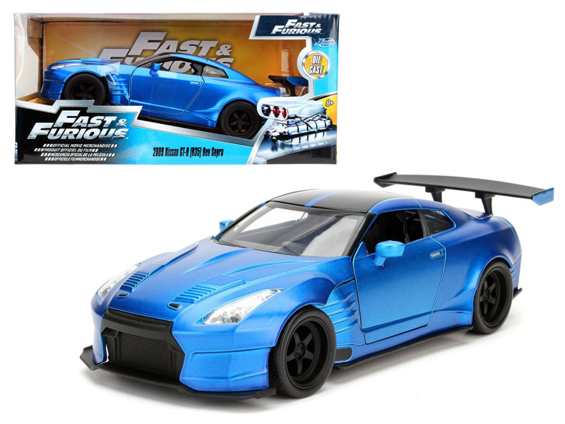 Brian's 2009 Nissan GTR R35 Blue Ben Sopra Fast & Furious Movie 1/24 Diecast Model Car Jada 98271