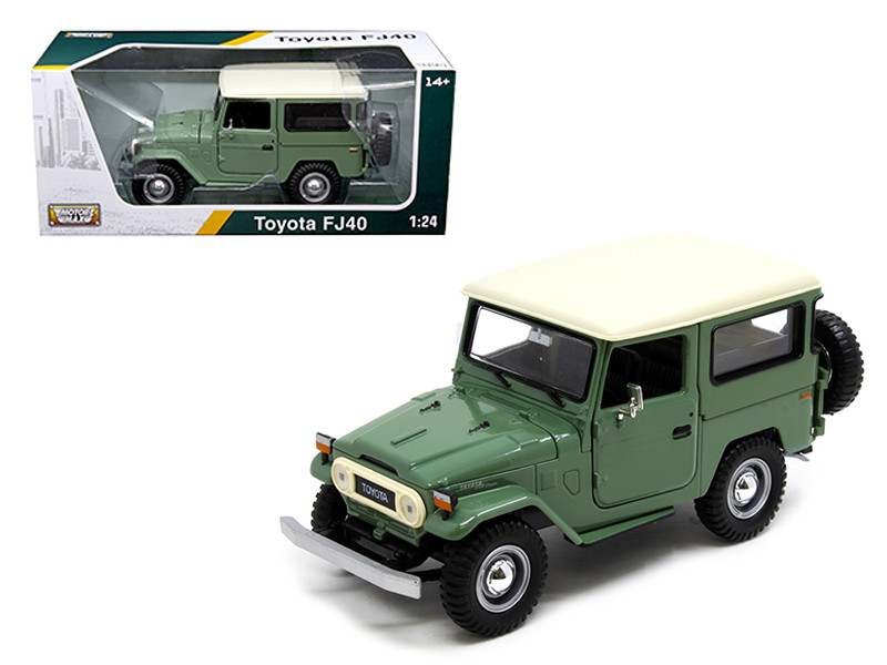 Toyota FJ40 Medium Green 1/24 Diecast Model Car Motormax 79323