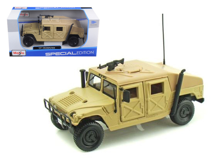 Humvee Military Sand 1/27 Diecast Model Car Maisto 31974
