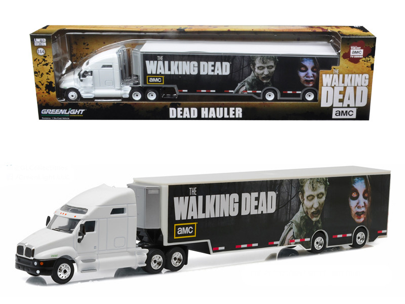 Kenworth T2000 Hauler The Walking Dead TV Series 2010 Current 1/64 Diecast Model Car Greenlight 29849