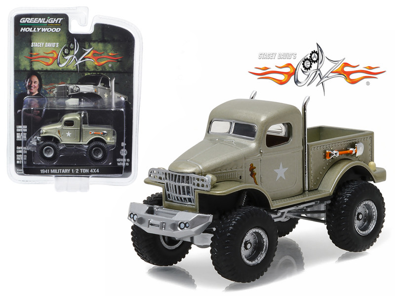 "1941 Military 1/2 Ton 4x4 Pick Up Truck \Sgt. Rock"" Stacey David\'s Geraz (2010-Current) TV Series 1/64 Diecast Model Car by Greenlight"""""""