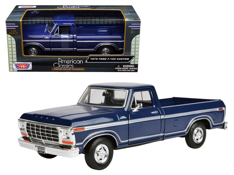 Ford F  Pickup Truck Blue  Cast Model Car Motormax