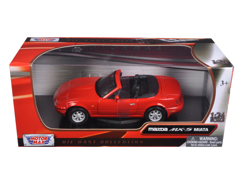 Mazda MX-5 Miata Red 1/24 Diecast Car Model Motormax 73262