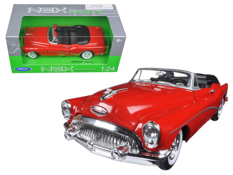 1953 Buick Skylark Convertible Red 1/24 Diecast Model Car Welly 24027