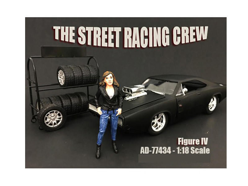 The Street Racing Crew Figure IV For 1:18 Scale Models American Diorama 77434