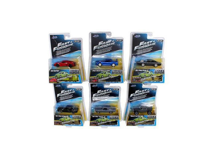 Fast & Furious Build N Collect Wave 3 6pc Diecast Car Set IN BLISTER PACKS 1/55 Diecast Model Cars Jada 14026-W3