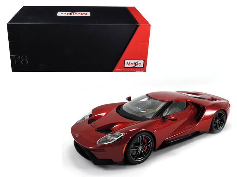 2017 Ford GT Metallic Red Exclusive Edition 1/18 Diecast Model Car Maisto 38134