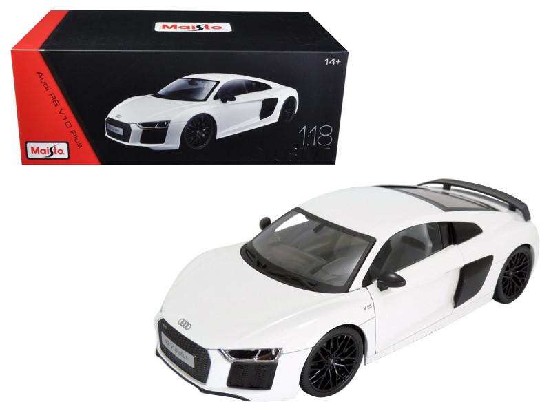 Audi R8 V10 Plus White Exclusive Edition 1/18 Diecast Model Car Maisto 38135