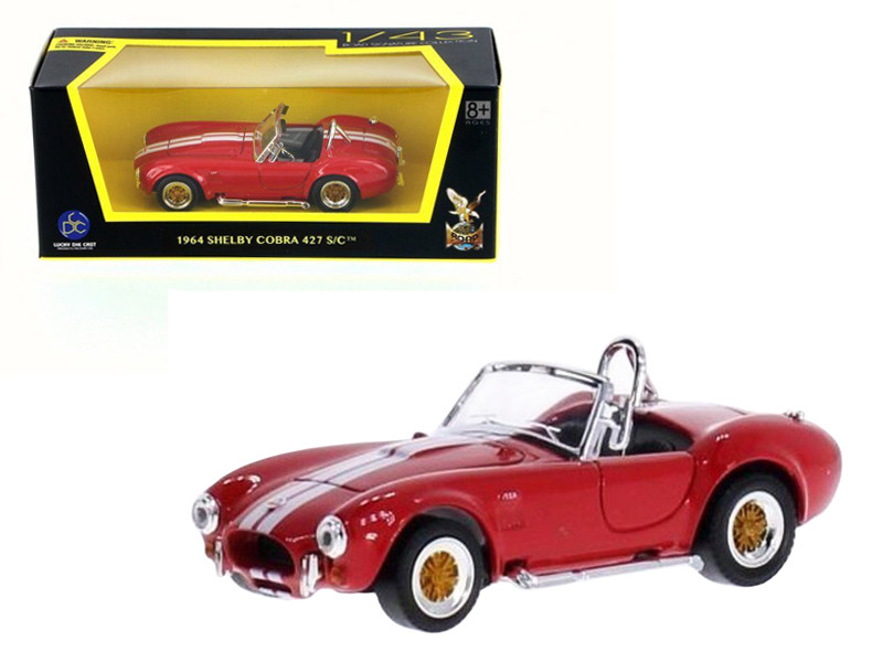 1964 Shelby Cobra 427 S/C Red 1/43 Diecast Model Car Road Signature 94227