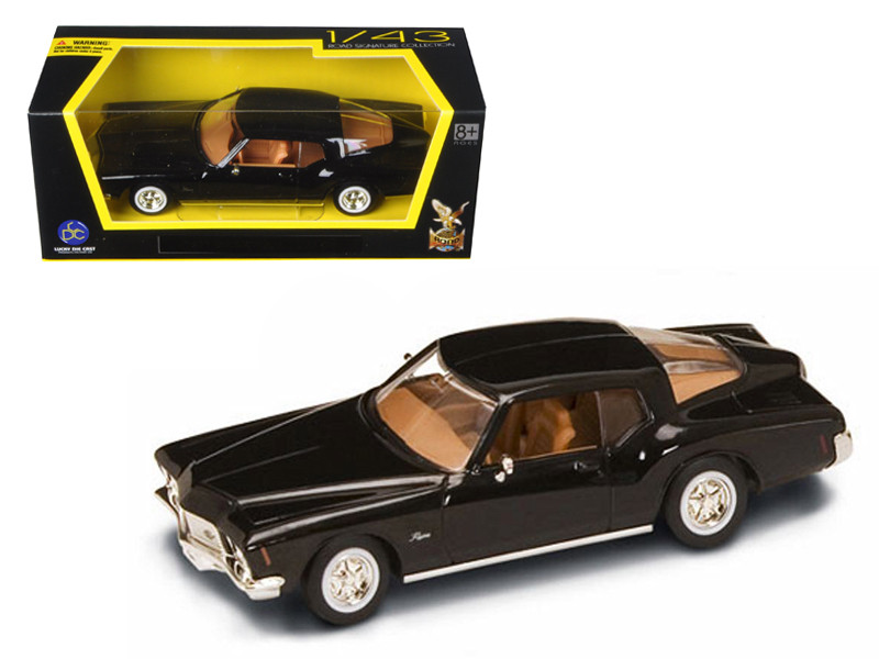 1971 Buick Riviera GS Black Diecast Model Car 1/43 Road Signature 94252