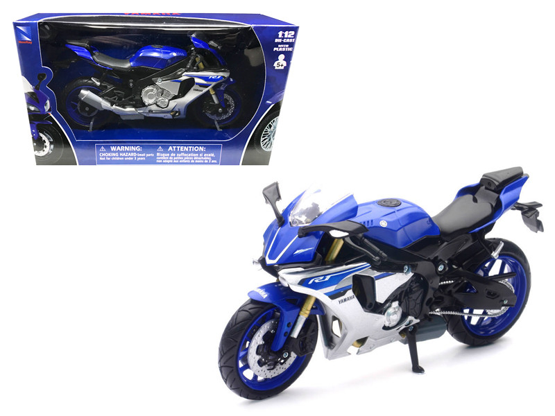 2016 Yamaha YZF-R1 Blue Motorcycle Model 1/12 by New Ray