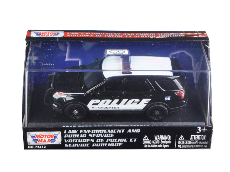 2015 Ford Police Interceptor Utility In Display Showcase 1/43 Diecast Model Car by Motormax