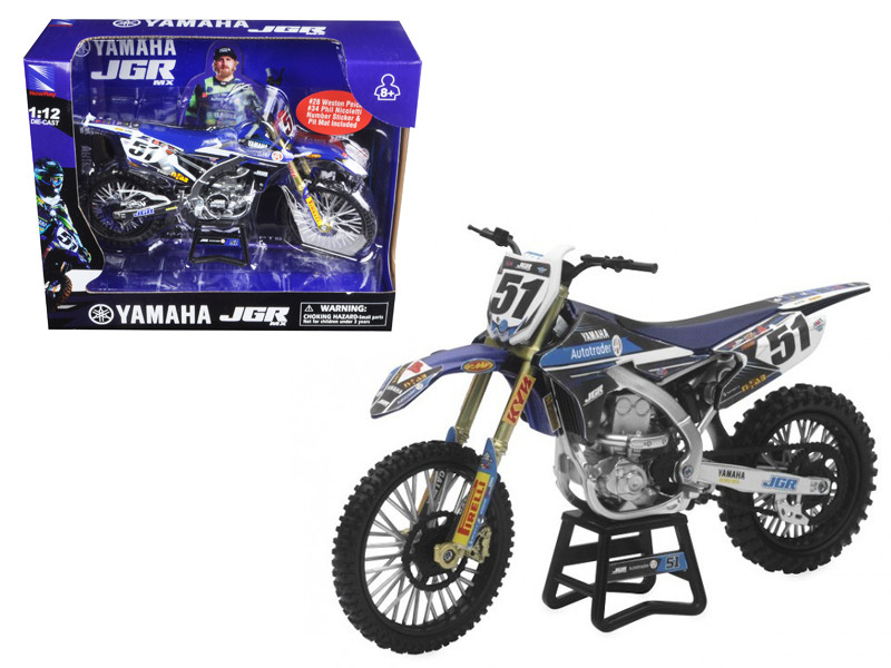 Yamaha JGR Justin Barcia #51 Motorcycle 1/12 Diecast Model New Ray 57713