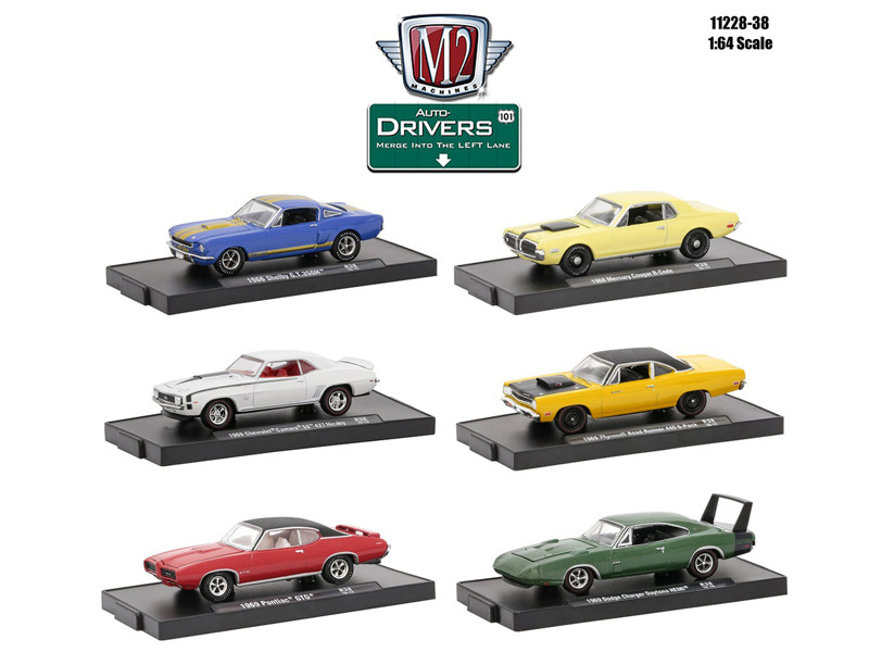 Drivers 6 Cars Set Release 38 In Blister Pack 1/64 Diecast Model Cars M2 Machines 11228-38