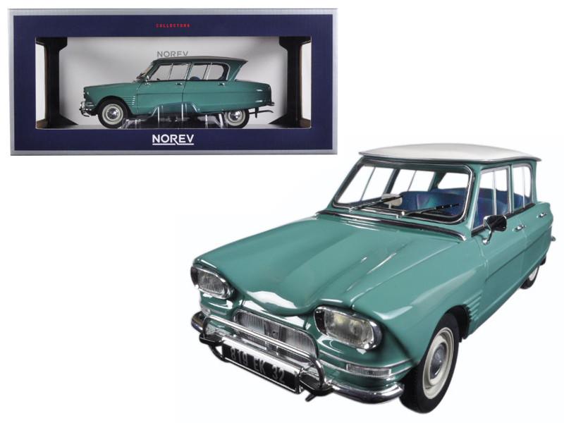 1964 Citroen Ami 6 Jade Green 1/18 Diecast Model Car by Norev