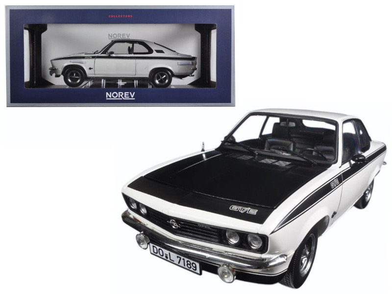 1975 Opel Manta GT/E White 1/18 Diecast Model Car Norev 183634