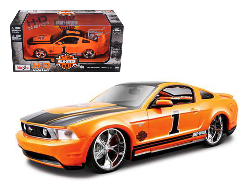 2011 Ford Mustang GT Harley Davidson Orange #1 1/24 Diecast Model Car Maisto 32170