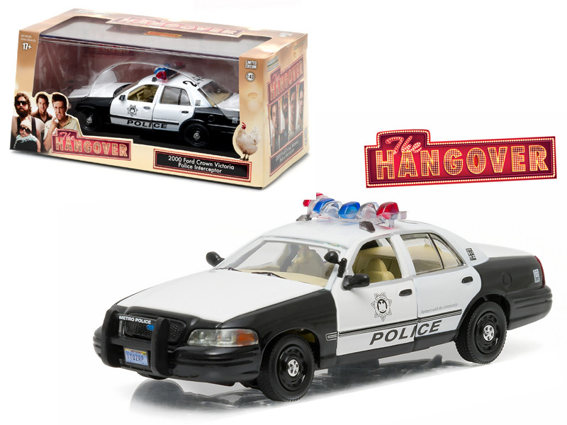 2000 Ford Crown Victoria Police Interceptor The Hangover 2009 Movie 1/43 Diecast Model Car Greenlight 86506
